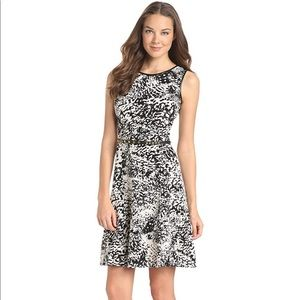 Calvin Klein Abstract Animal Print Flare Dress 2